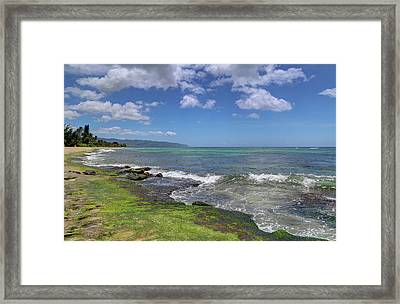 Laniakea Beach Where The Turtles Live Framed Print