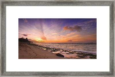 Laniakea Sunset Framed Print