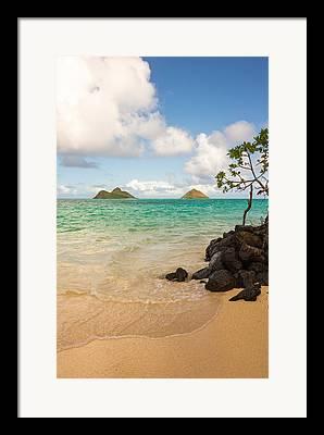 Sea Island Scene Framed Prints