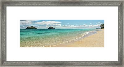 Lanikai Beach 4 Pano - Oahu Hawaii Framed Print