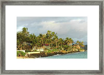Lanikai Beach Framed Print