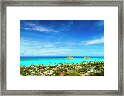 Framed Print featuring the photograph Lanikai Beach From The Pillbox Trail by Aloha Art