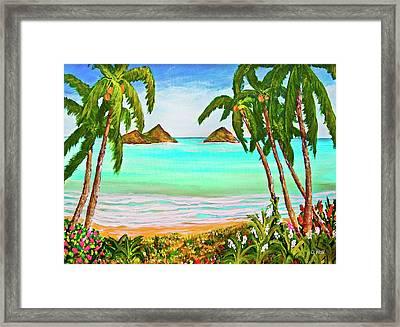 Lanikai Beach Oahu Hawaii #358 Framed Print by Donald k Hall