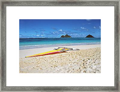 Lanikai Beach Oahu Framed Print by Thomas R Fletcher
