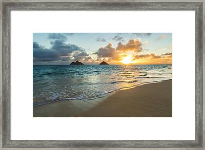 Lanikai Beach Sunrise 2 Framed Print