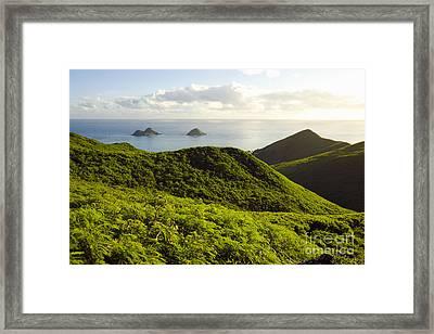 Lanikai Hills Framed Print by Dana Edmunds - Printscapes