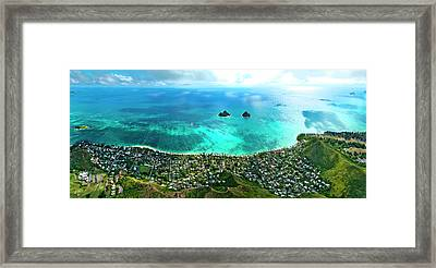 Lanikai Over View Framed Print