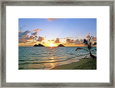 Lanikai Sunrise  Framed Print