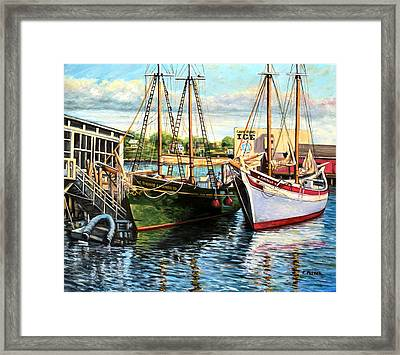 Lannon And Ardelle Gloucester Ma Framed Print by Eileen Patten Oliver