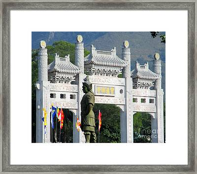 Framed Print featuring the photograph Lantau Island 51 by Randall Weidner