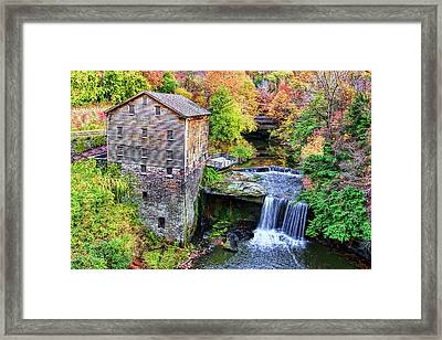 Lanterman's Mill And Bridge Framed Print by Marcia Colelli