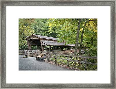 Lanterman's Mill Covered Bridge Framed Print