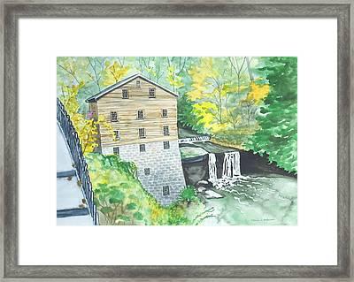Lanterman's Mill - Mill Creek Park Framed Print