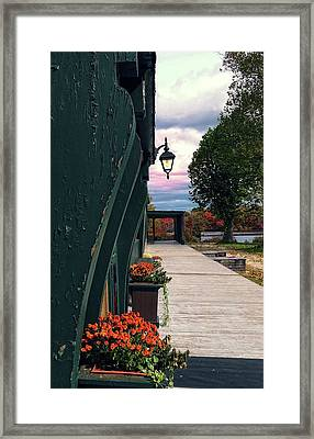 Lantern At Connetquot State Park, Long Island, New York Framed Print