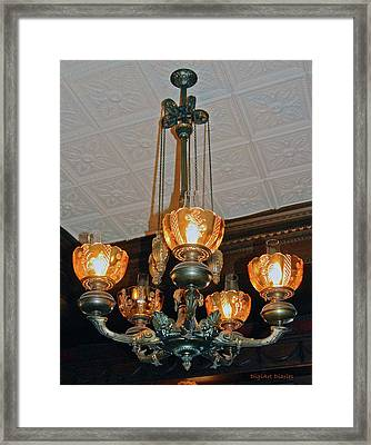 Lantern Chandelier Framed Print by DigiArt Diaries by Vicky B Fuller