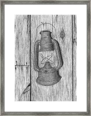 Lantern Framed Print by Ed Einboden