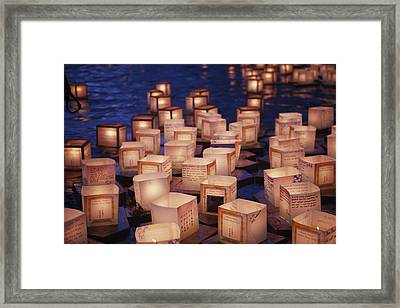 Lantern Floating Ceremony Framed Print by Brandon Tabiolo - Printscapes