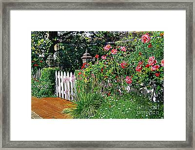 Lantern Gate Framed Print by David Lloyd Glover