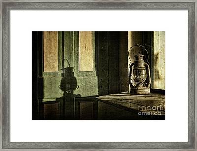 Lantern Shadow Framed Print by Sari Sauls