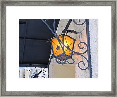 Framed Print featuring the pyrography Lantern  by Yury Bashkin
