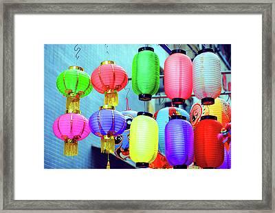 Colorful Lanterns Framed Print by Agnes Czekman
