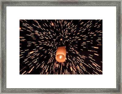 Framed Print featuring the photograph Lanterns In The Sky by Pradeep Raja Prints