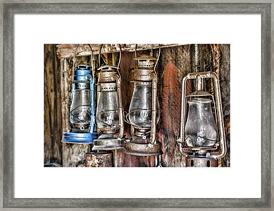 Lanterns Framed Print by Kelley King