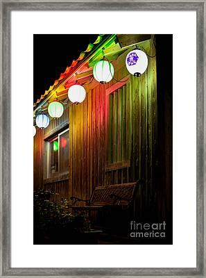Lanterns Light The Bench Framed Print