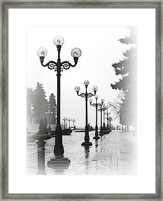 Lanterns Of Mariyinskyi Park. Kyiv, 2015. Framed Print