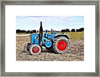 Lanz Bulldog Tractor Framed Print by Thomas Schmidt