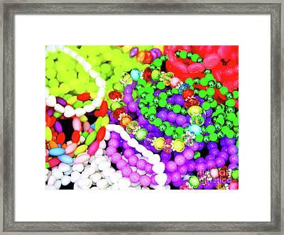 Coloured Baubles Framed Print