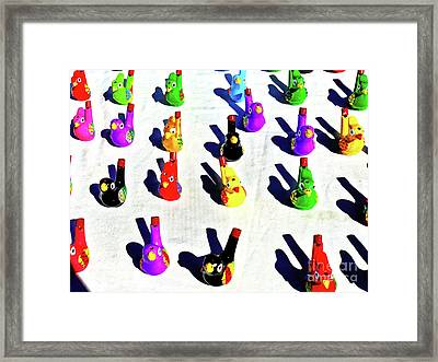 Whistling Birds Framed Print by Wilf Doyle