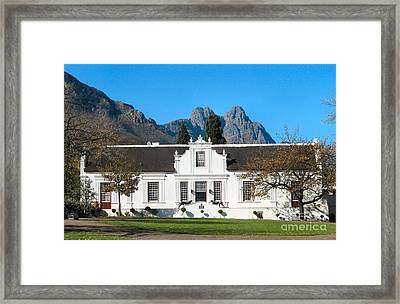 Lanzerac Stellenbosch Framed Print by Heather Nel
