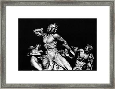 Laocoon And His Sons Aka Gruppo Del Laocoonte Framed Print by Michael Fiorella