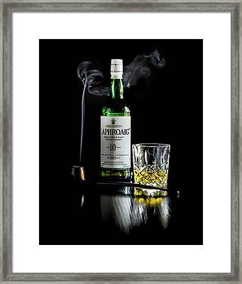 Whiskey And Smoke Framed Print
