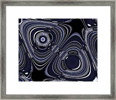 Lapis And Chrome Abstract Framed Print