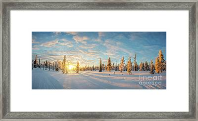Lapland Panorama Framed Print by Delphimages Photo Creations