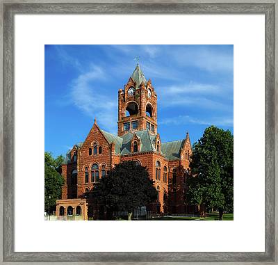 Laporte County Courthouse - Indiana Framed Print by Mountain Dreams