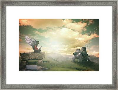 Framed Print featuring the digital art Laptop Dreams by Nathan Wright