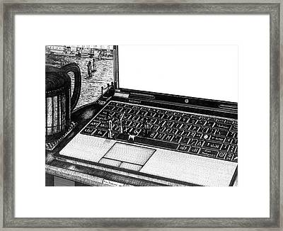 Laptop Framed Print by Richie Montgomery
