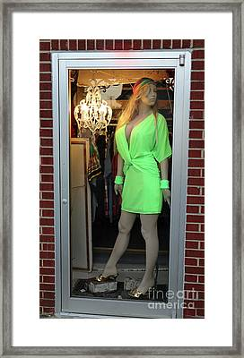 Lara In Green Framed Print