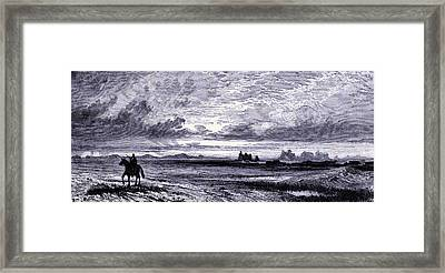 Laramie Plains  Framed Print by American School