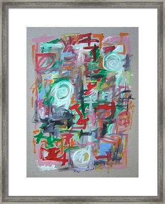 Large Abstract No 2 Framed Print by Michael Henderson