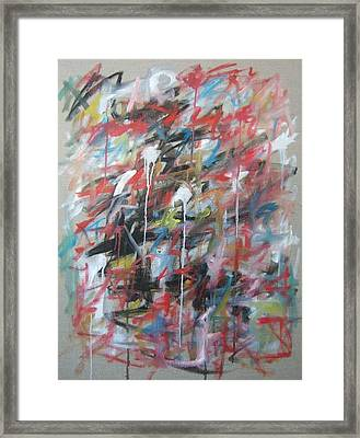 Large Abstract No 4 Framed Print by Michael Henderson