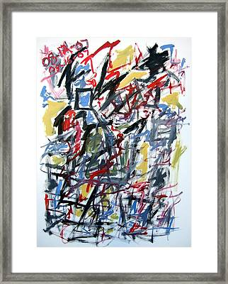 Large Abstract No. 5 Framed Print by Michael Henderson