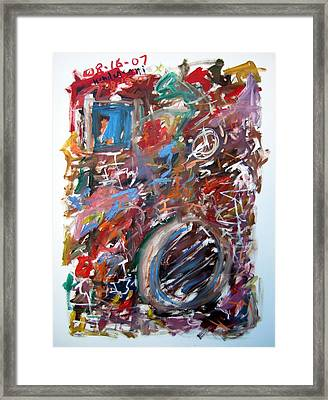 Large Abstract No. 6 Framed Print by Michael Henderson