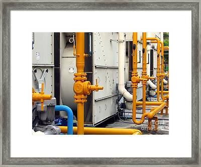 Large Air-conditioning Cooling Tower Framed Print by Yali Shi
