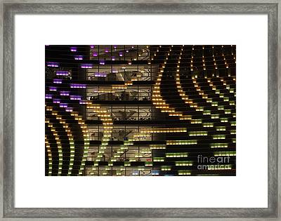 Large Building By Night Framed Print