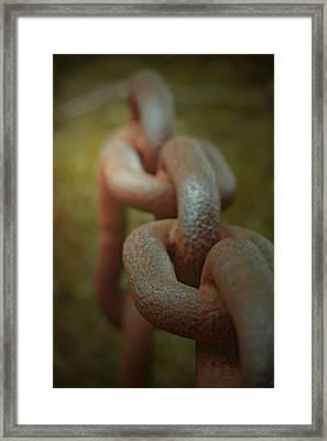 Large Chain Framed Print