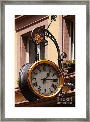Large Clock Framed Print by Helmut Meyer zur Capellen